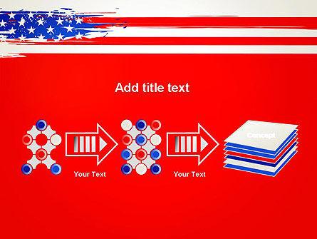 United States Flag Theme PowerPoint Slide 9