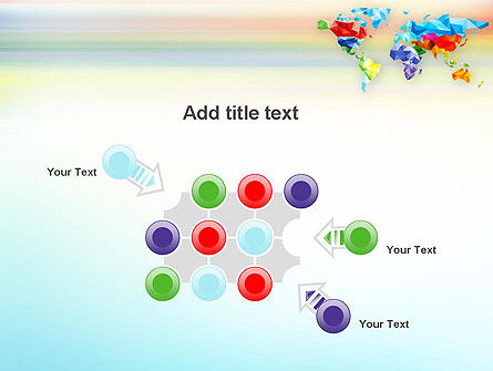Colorful World Map in Polygonal Design PowerPoint Template Slide 10