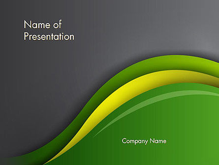 Abstract Layered Waves PowerPoint Template
