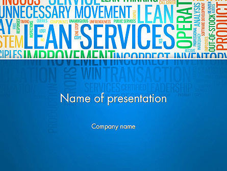 Lean Services Colored Word Cloud PowerPoint Template