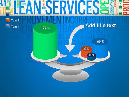 Lean Services Colored Word Cloud PowerPoint Template Slide 10