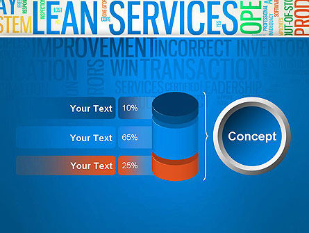 Lean Services Colored Word Cloud PowerPoint Template Slide 11