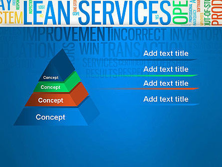 Lean Services Colored Word Cloud PowerPoint Template Slide 12
