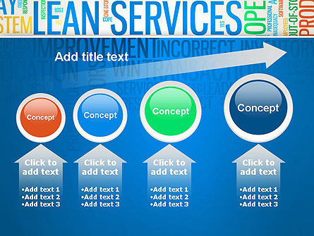 Lean Services Colored Word Cloud PowerPoint Template Slide 13