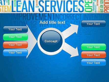 Lean Services Colored Word Cloud PowerPoint Template Slide 14
