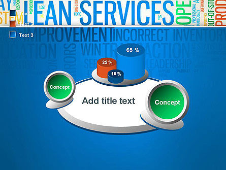 Lean Services Colored Word Cloud PowerPoint Template Slide 16