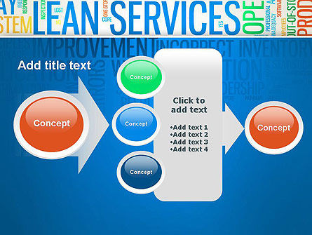 Lean Services Colored Word Cloud PowerPoint Template Slide 17