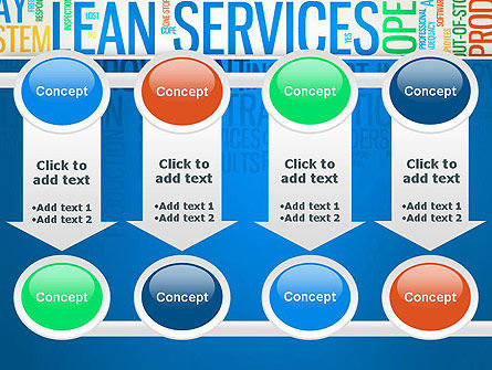 Lean Services Colored Word Cloud PowerPoint Template Slide 18