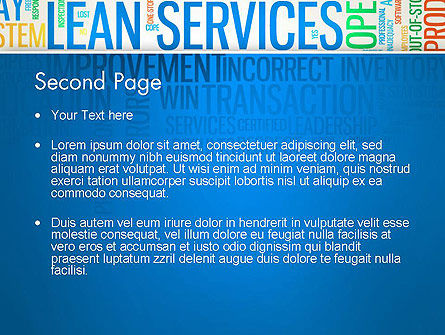 Lean Services Colored Word Cloud PowerPoint Template Slide 2