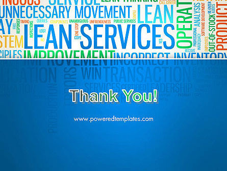 Lean Services Colored Word Cloud PowerPoint Template Slide 20