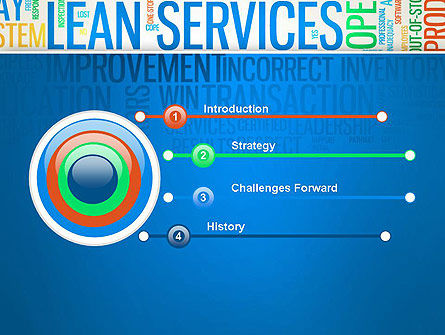 Lean Services Colored Word Cloud PowerPoint Template Slide 3