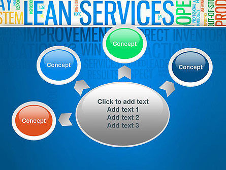 Lean Services Colored Word Cloud PowerPoint Template Slide 7