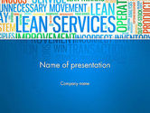 Careers/Industry: Lean Services Colored Word Cloud PowerPoint Template #12937