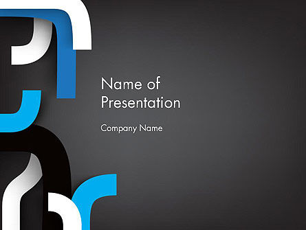 Abstract Unfinished Lines PowerPoint Template, 12938, Abstract/Textures — PoweredTemplate.com