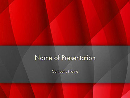 Abstract Red Intersecting Waves PowerPoint Template