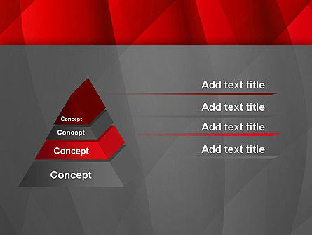 Abstract Red Intersecting Waves PowerPoint Template Slide 12