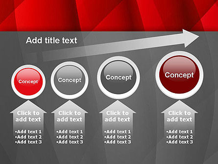 Abstract Red Intersecting Waves PowerPoint Template Slide 13
