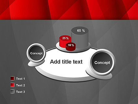 Abstract Red Intersecting Waves PowerPoint Template Slide 16