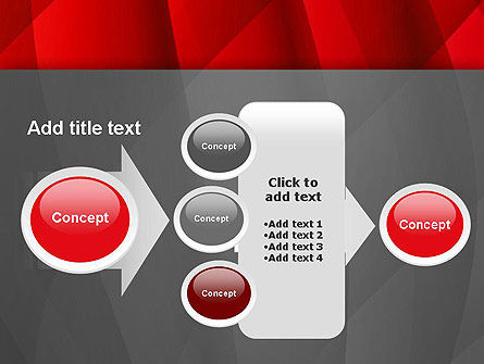 Abstract Red Intersecting Waves PowerPoint Template Slide 17