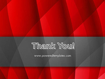 Abstract Red Intersecting Waves PowerPoint Template Slide 20