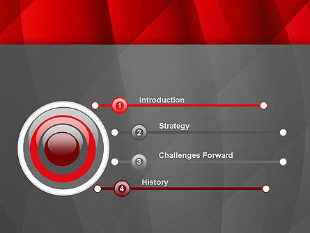 Abstract Red Intersecting Waves PowerPoint Template Slide 3