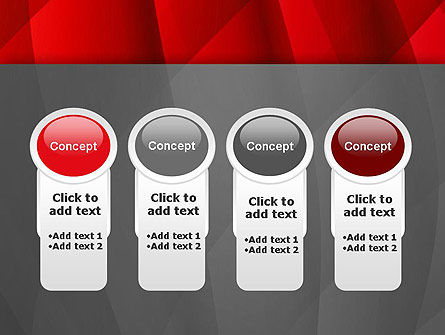 Abstract Red Intersecting Waves PowerPoint Template Slide 5