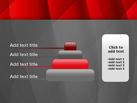 Abstract Red Intersecting Waves PowerPoint Template Slide 8
