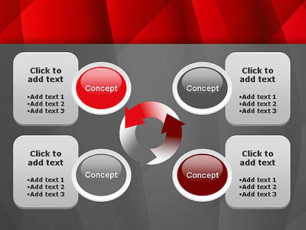 Abstract Red Intersecting Waves PowerPoint Template Slide 9