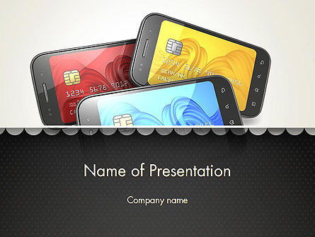 Mobile Phone Payment PowerPoint Template, 12940, Financial/Accounting — PoweredTemplate.com