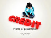 Financial/Accounting: Bad Credit PowerPoint Template #12941