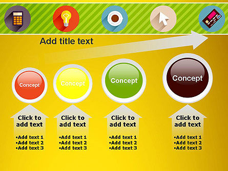 Yellow Background with Icons PowerPoint Slide 13