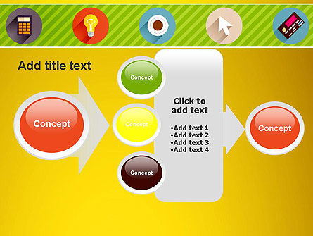 Yellow Background with Icons PowerPoint Slide 17