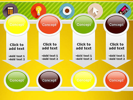 Yellow Background with Icons PowerPoint Slide 18