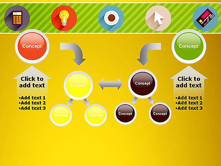 Yellow Background with Icons PowerPoint Slide 19