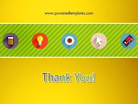 Yellow Background with Icons PowerPoint Slide 20