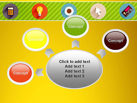 Yellow Background with Icons PowerPoint Slide 7