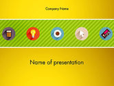 Business: Yellow Background with Icons PowerPoint #12943
