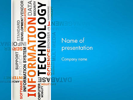 Information Technology Word Cloud PowerPoint Template, 12944, Technology and Science — PoweredTemplate.com