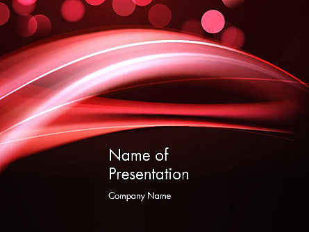 Abstract Red Moving Lights PowerPoint Template