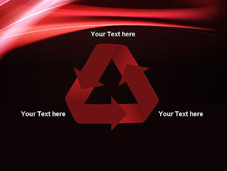 Abstract Red Moving Lights PowerPoint Template Slide 10