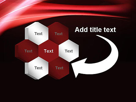 Abstract Red Moving Lights PowerPoint Template Slide 11