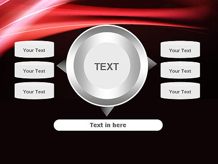 Abstract Red Moving Lights PowerPoint Template Slide 12
