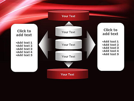 Abstract Red Moving Lights PowerPoint Template Slide 13