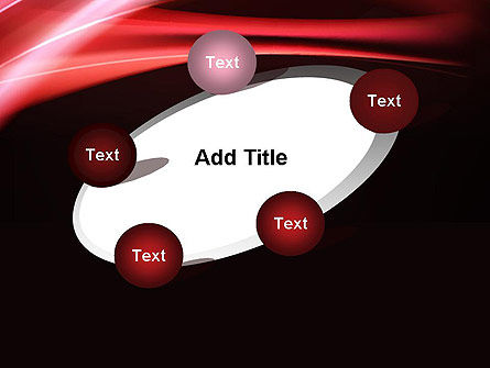 Abstract Red Moving Lights PowerPoint Template Slide 14