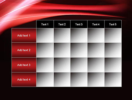 Abstract Red Moving Lights PowerPoint Template Slide 15