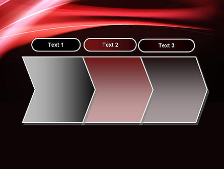 Abstract Red Moving Lights PowerPoint Template Slide 16