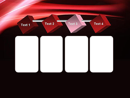 Abstract Red Moving Lights PowerPoint Template Slide 18