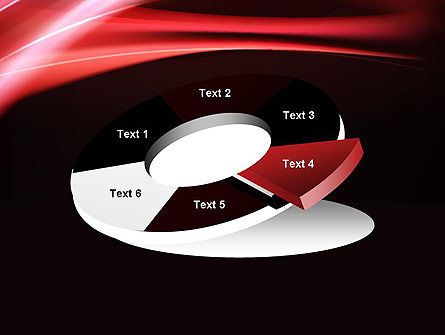 Abstract Red Moving Lights PowerPoint Template Slide 19