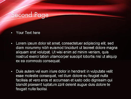 Abstract Red Moving Lights PowerPoint Template Slide 2