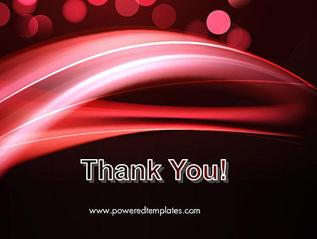 Abstract Red Moving Lights PowerPoint Template Slide 20